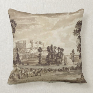 Part of the Town and Castle of Ludlow in Shropshir Cushion
