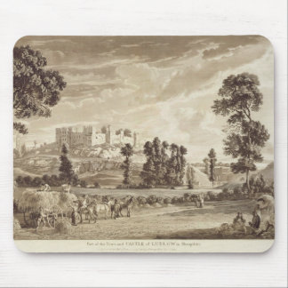Part of the Town and Castle of Ludlow in Shropshir Mouse Pad