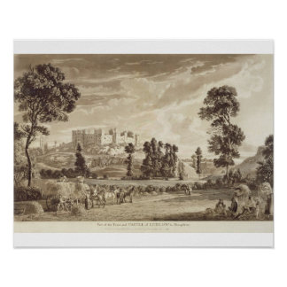 Part of the Town and Castle of Ludlow in Shropshir Poster