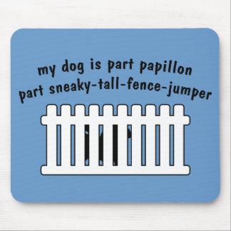 Part Papillon Part Fence-Jumper Mousepad