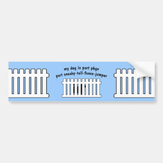 Part PBGV Part Fence-Jumper Bumper Sticker