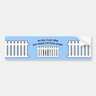 Part PBGV Part Fence-Jumper Bumper Sticker
