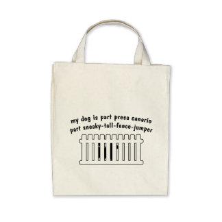 Part Presa Canario Part Fence-Jumper Canvas Bags