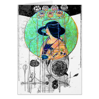 Part Seen - Part Imagined by Charles R. Mackintosh Greeting Card