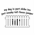 Part Shiba Inu Part Fence-Jumper Photo Sculpture