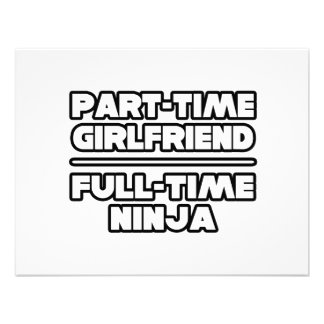Part Time Girlfriend...Full Time Ninja Custom Invitations