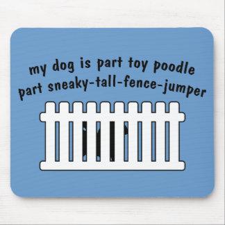 Part Toy Poodle Part Fence-Jumper Mouse Pad