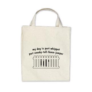 Part Whippet Part Fence-Jumper Canvas Bags
