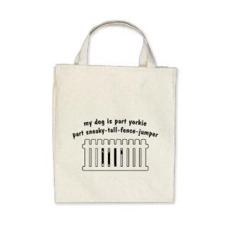 Part Yorkie Part Fence-Jumper Tote Bag