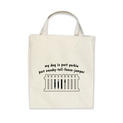 Part Yorkie Part Fence-Jumper Tote Bag