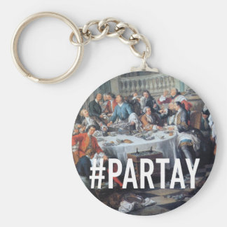 PARTAY Up In Here #Hashtag - Trendium Art Captions Basic Round Button Key Ring