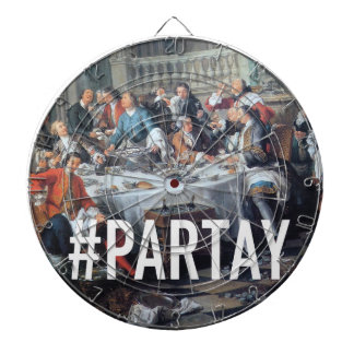 PARTAY Up In Here #Hashtag - Trendium Art Captions Dartboard