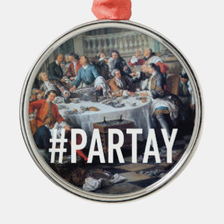 PARTAY Up In Here #Hashtag - Trendium Art Captions Christmas Ornament