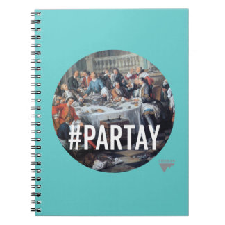 PARTAY Up In Here Hashtag - Trendium Art Captions Note Books