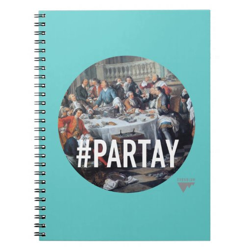 PARTAY Up In Here #Hashtag - Trendium Art Captions Note Books