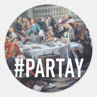 PARTAY Up In Here #Hashtag - Trendium Art Captions Round Sticker