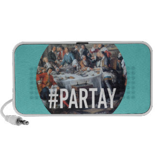 PARTAY Up In Here #Hashtag - Trendium Art Captions Portable Speakers
