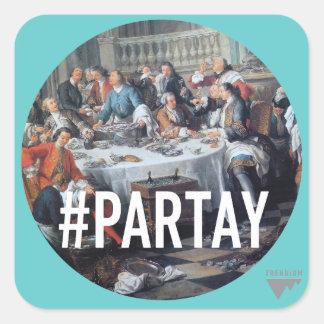 PARTAY Up In Here #Hashtag - Trendium Art Captions Square Sticker
