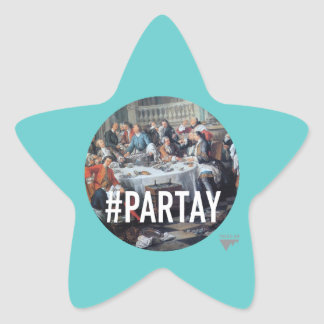 PARTAY Up In Here #Hashtag - Trendium Art Captions Star Stickers