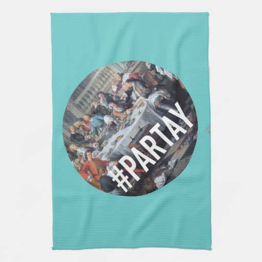 PARTAY Up In Here #Hashtag - Trendium Art Captions Towels