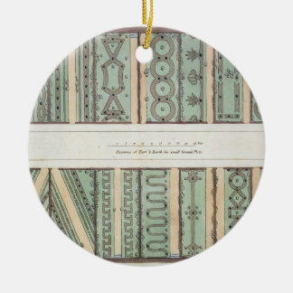Parterres of Turf and Earth for small Ground Plots Christmas Ornament