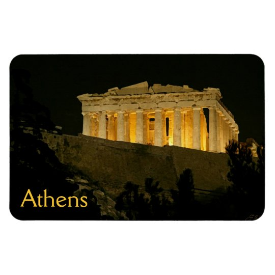 Parthenon 1 rectangular photo magnet