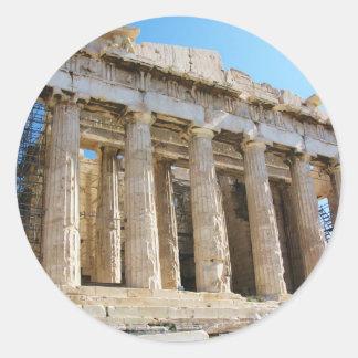 Parthenon, Acropolis Athens Classic Round Sticker