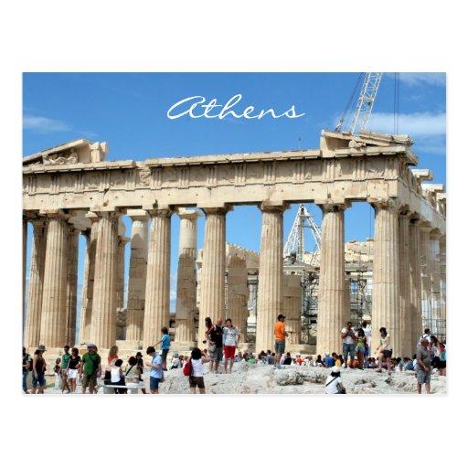 parthenon acropolis postcards
