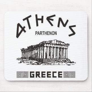 Parthenon - Athens - Greek (black) Mouse Pad