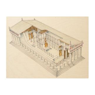 Parthenon Athens Wood Wall Decor