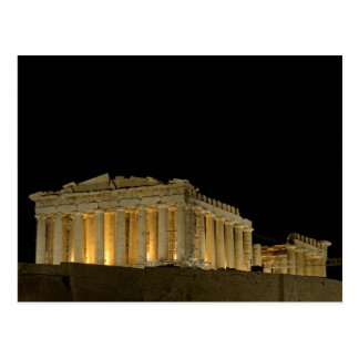 Parthenon by night Postcard