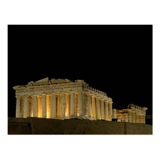 Parthenon by night Postcard