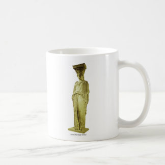 Parthenon Caryatid Basic White Mug