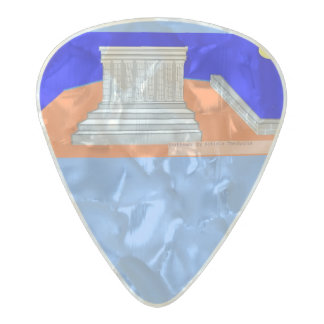 Parthenon day! pearl celluloid guitar pick