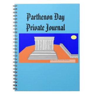Parthenon day! spiral notebooks