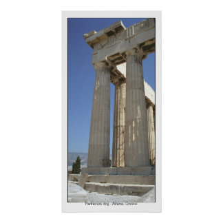 Parthenon dog poster