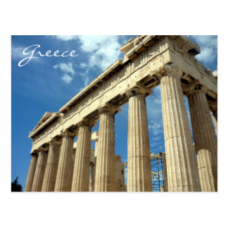 parthenon greece postcard