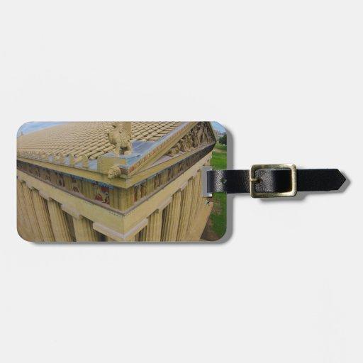 Parthenon Travel Bag Tags