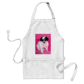 Parti Poodle Puppy in Pink Standard Apron