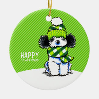 Parti Poodle Scarf Christmas Happy Howl-i-days Christmas Ornament