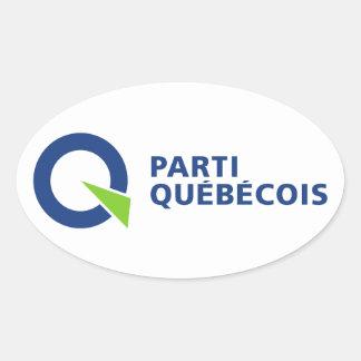Parti Québécois Oval Sticker