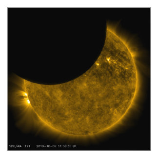 Partial Eclipse of the Sun Photo Print