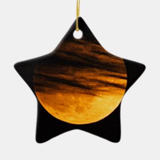 Partial Lunar Eclipse Christmas Ornament