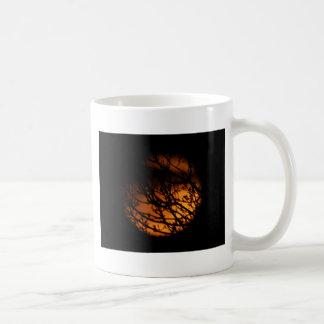 Partial Lunar Eclipse Silhouette Mug