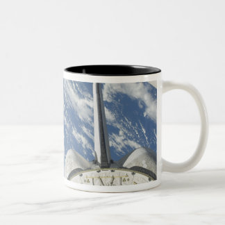 Partial view of Space Shuttle Endeavour Two-Tone Coffee Mug
