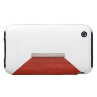 Partially unrolled red carpet iPhone 3 tough cover