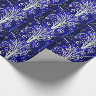 Particle Bouquet Holiday Gift Wrap Wrapping Paper