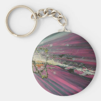 particle original oil painting keychains
