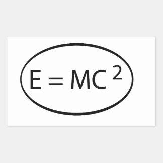 particle physics rectangular sticker