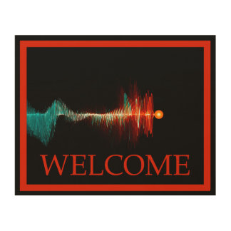 Particle-Wave Duality - Welcome Wood Wall Art